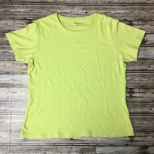 Coldwater Creek Lime Green Top Size Medium